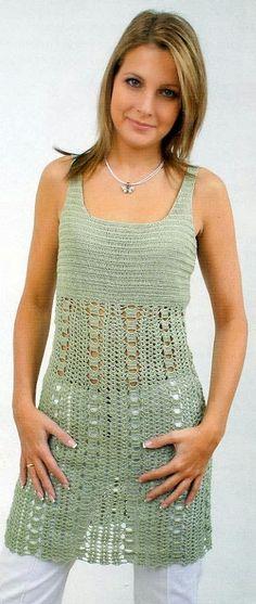 Linda túnica, que também se transforma em saída de praia, vestido enfim.. Uma peça versátil. O ponto do buso nada mais é que ponto alto ...