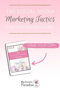 Grab these 150 Social Media marketing tactics for entrepreneurs. Inside you will learn different Social Media marketing strategy ideas that will help you grow your following and online business. These Social Media marketing ideas are for any business owner. Learn all the best Social Media marketing tips. All these Social Media marketing ideas are for entrepreneurs who are building their business online. Marketing Tactics, Marketing Plan, Online Marketing, Social Media Marketing, Marketing Strategies, Social Media Scheduling Tools, Social Media Content, Social Media Tips, Social Media Influencer