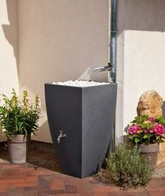Regentonne / Regenwassertank 350 L REWATEC Modena black granit Bild 1