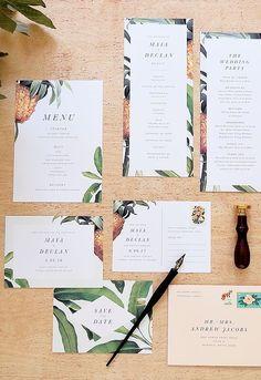 Tropical Wedding Stationery Suite by Rachel Marvin Creative Island Wedding | Wedding Invitation | Destination Wedding | BVI | Scrub Island