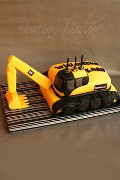 Excavator Cake .... so cute