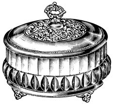 Berry or Preserve Dish ~ Free Vintage Clip Art