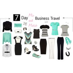 neutral top layers, patterned base layer 7 Day Business Travel Outfits (Spring)