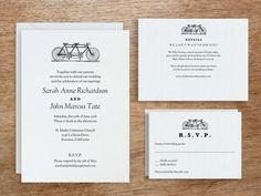 Printable Wedding Invitation Set - Tandem