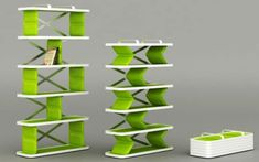 Zigzag Shelving System by Tahsin Emre Eke