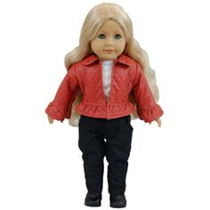The Queen's Treasures Rodeo Drive Shopping Doll Jacket, Shirt, and Pants Outfit for 18-inches Dolls