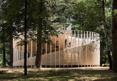 Pavilion of the Future / NOVOE Completed in 2019 in Vyksa Russia. Images by Ilya Ivanov. The world of today is a world of transformations. Population growth economic crises environmental cataclysms global warming virtual reality and. Pavilion Architecture, Architecture Portfolio, Futuristic Architecture, Sustainable Architecture, Contemporary Architecture, Landscape Architecture, Landscape Design, Architecture Design, Residential Architecture