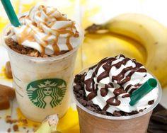 Starbucks Japan Has a Banana and Chocolate Cream Frappuccino #Starbucks #StarbucksJapan #coffee #Starbucksmenu #Japan #drinks