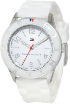 6f0a6e480 Amazon.com: Tommy Hilfiger Women's 1781184 Sport Stainless Steel and White  Silicon Strap Watch: Tommy Hilfiger: Watches