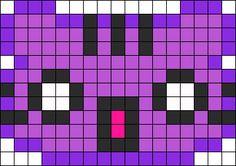 Shocked Kitty Perler Bead Pattern / Bead Sprite