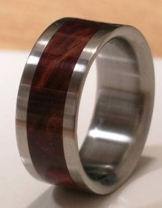 Tungsten Wooden Wedding Band DESERT IRON WOOD Mens