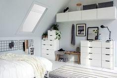 Nordli ikea usa - Ikea DIY - The best IKEA hacks all in one place Ikea Bedroom, Home Bedroom, Bedroom Decor, Nordli Ikea, Deco Studio, Minimal Bedroom, Student Room, Ikea Inspiration, Appartement Design