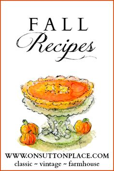 Comfort food recipes perfect for Fall. #Recipes #Fall #Autumn