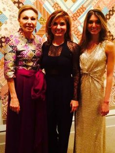 Empress Farah, Princess Yasmine and Princess Noor of Iran attended a gala dinner for the 2014 Spring Gala for the National Museum of Women in the Arts, Washington DC, April 25, 2014