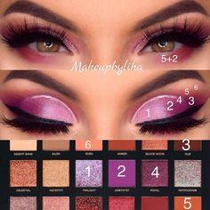 some purple vibes yay or nay? Huda Beauty Eyeshadow Palette, Huda Beauty Lip, Makeup Palette, Eyeshadow Makeup, Beauty Makeup, Makeup Goals, Makeup Inspo, Makeup Inspiration, Eye Makeup Steps