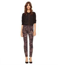 Tory Burch Printed High-waisted Skinny Jean