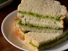 chutney sandwich recipe with step by step photos. easy and quick to prepare chutney sandwiches. these chutney sandwiches make for a good starter option at parties. Vegetarian Sandwich Recipes, Club Sandwich Recipes, Breakfast Sandwich Recipes, Snack Recipes, Cooking Recipes, Bread Recipes, Eggless Recipes, Sandwich Ideas, Snacks Ideas