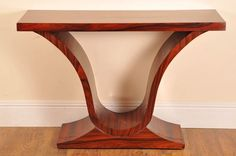 Art Deco Rosewood Console Table Ogee Tables