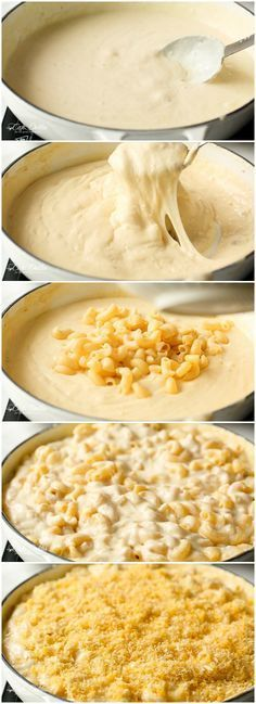 Creamy Garlic Parmesan Mac And Cheese in ONE POT | http://cafedelites.com