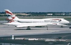 Concorde and the Boeing Jumbo Jet. Concorde and the original Jumbo Jet… British Airways, Sud Aviation, Civil Aviation, Commercial Plane, Commercial Aircraft, Concorde, Tupolev Tu 144, Photo Avion, Airplane Photography
