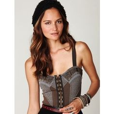 Grey Free People Corset.