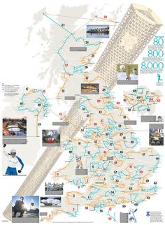 London 2012 Olympic torch route