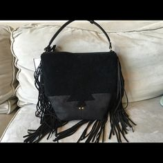 Jerome Dreyfuss Mario Bag Noir Camaieu - NWT! Brand new with tags, this stunning fringed bag in a mixed media texture of black shearling and velvet goatskin is a fun and fashionable statement piece. Carry it as a handbag, cross body or shoulder bag. Color: noir Camaieu. Jerome Dreyfuss Bags Crossbody Bags