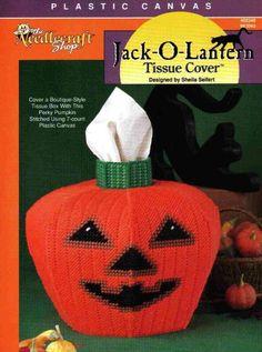 Pumpkin Tissue Box Cover 1/3