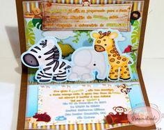 Toque Personalizado - Convite PopUp 3D Safari