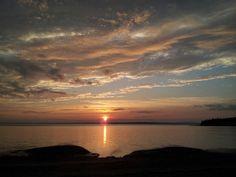 Sunset on maine coast