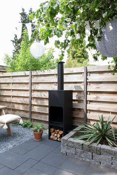 Buitenhaard | Outdoor fireplace | Bohemian green garden