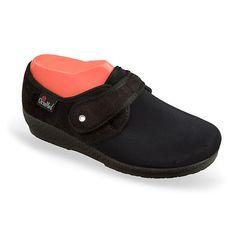 Pantofi medicali, ortopedici, din material stretch, pentru femei, OrtoMed 669-T77. Recomandati: pentru persoanele cu Hallux Valgus / monturi. Calapod lat, brant detasabil / interschimbabil, talpi usoare si flexibile. Marimi: 36-42.