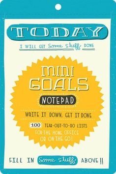 This pad of 150 cute, clever, and charming fill-in to-do lists will turn even the most notorious procrastinators into highly organized masters of efficiency.