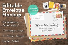 Editable Envelope Mockup by Frisk Shop on Creative Market
