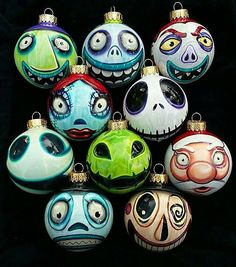 Any Character Nightmare Before Christmas Ornaments – Pick Your Favorites! Hand-Painted, Highly Detailed, Shatterproof, Made-to-Order Any Character Nightmare Before Christmas Ornaments Pick Your Nightmare Before Christmas Characters, Nightmare Before Christmas Ornaments, Diy Christmas Ornaments, Christmas Bulbs, Halloween Ornaments, Halloween Trees, Halloween Christmas, Halloween Crafts, Halloween Decorations