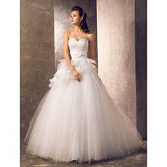 una línea princesa cariño barrer / cepillo tren vestido de novia de tul (568331) – EUR € 105.59