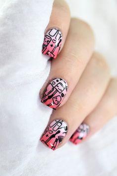Marine Loves Polish: Nailstorming - Sponging + Bundle Monster Kawaii Emoji Review [VIDEO TUTORIAL] - cute nail art - gradient - stamping - BM-XL325