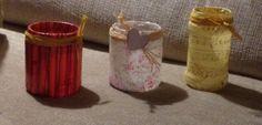 Reciclando botes de cristal. Para guardar cosas o poner velas!
