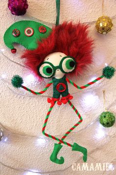 Pixielf Christmas ornament pixie elf Chicharrilla by camamiel