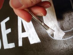 A great method for making hand painted lettering on signs, and having it look professional and neat