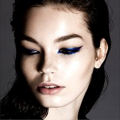 Upgrade your winter beauty routine with cobalt blue liner.