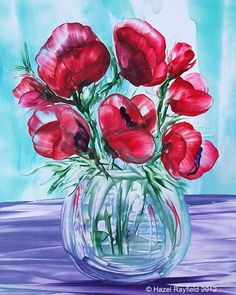 Encaustic Art Picture Galleries | Art Gallery : Flowers