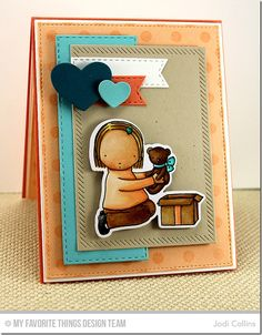Featuring: Pure Innocence Big Bear Hugs, Pure Innocence Big Bear Hugs Die-namics, Polka Dot Background and Inside & Out Diagonal Stitched Rectangle Die-namics!