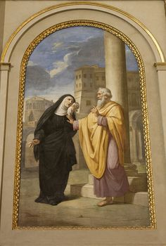 St Monica with her son