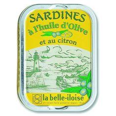 Sardines à l`huile olive et au citron