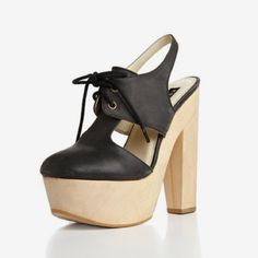 """SALE ✨ Platform Cutout Bootie Worn once! All pictures are my own. In pristine condition. Will come with box. Platform cutout bootie. 5 1/2"""" heel with 1 1/2"""" platform. Leather upper and lining, man made sole. Fits true to size. Size 8 insole measures at 9 6/8 inches or 25cm. Messeca Shoes Platforms"""