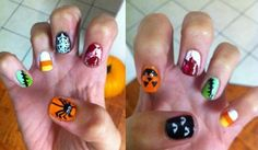Halloween nails.  Boo!