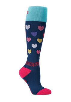 #nursinguniforms #medicalscrubs About The Nurse Hearts Print Medical Compression Socks - Hearts - 2X: The colorful About… #uniforms #scrubs