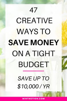 How to save money on a tight budget. When you're living on a tight budget, it's not easy to find extra ways to save money. It can feel like every penny is going towards paying your bills, with nothing left at the end of the month. Frugal living tips to help you pay off debt, build an emergency fund, and save money for a house. Follow these tips to save money fast. Creative ways to save money.