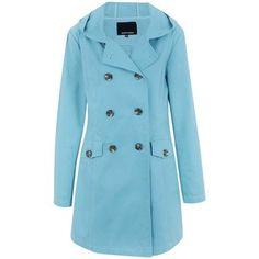 Casaco Trench Coat em Sarja